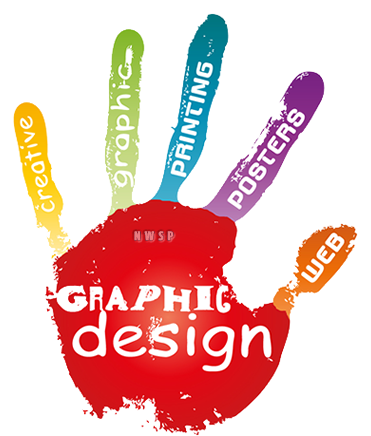 web graphic design hand